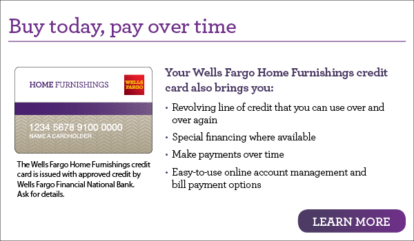 Apply for a Wells Fargo Home Furnishings Credit Card in Alexandria, VA